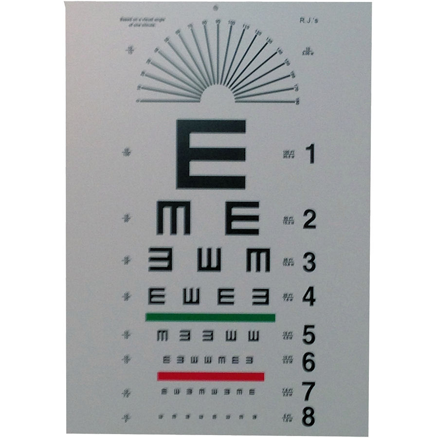 tumbling e eye chart 10 ft ophthalmic equipment. Black Bedroom Furniture Sets. Home Design Ideas