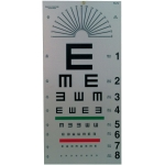 "Tumbling ""E"" Eye Chart - 20 ft"