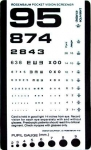 Rosenbaum Pocket Screener (Eye Chart)