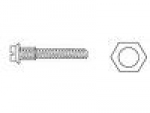 Assembly Screws, Silver w/Nut, 1.17x9.0 (pkg of 100)